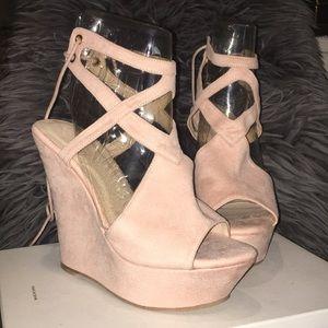 Soft Pink Platform Heels